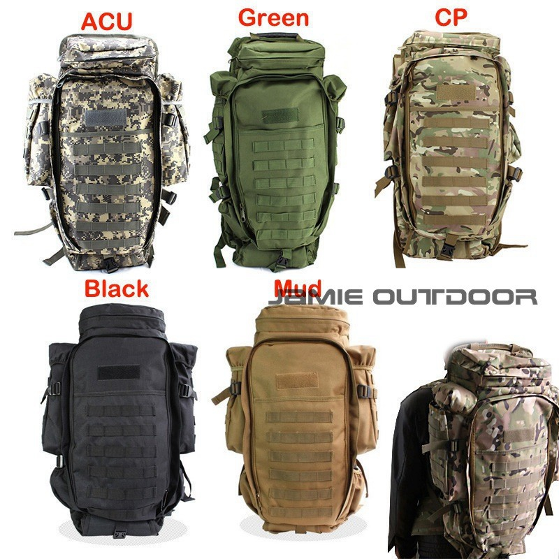 60L Tactical Rifle Carry Backpack Shotgun Bag Airsoft Paintball Hunting Gun Bags Tactical Extended Full Gear Dual Rifle Gun bag