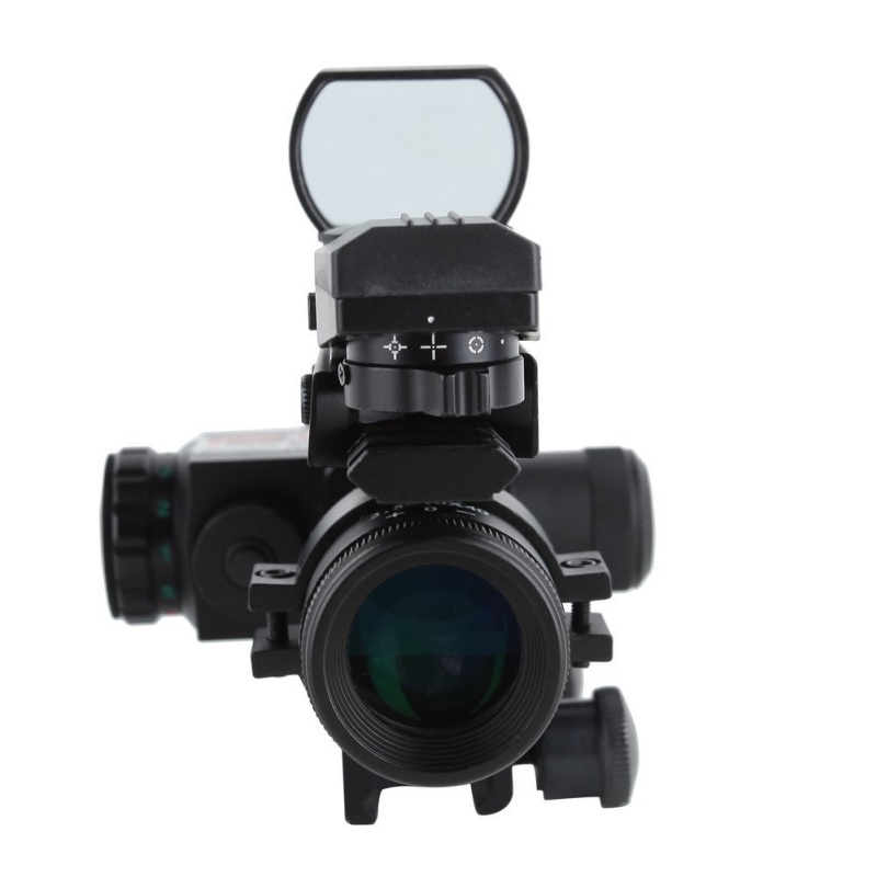 2.5-10x40 Tactical Rifle Scope Mil-dot Red Green Illuminated Red Laser Mount Rifle Scope Outdoor Hunting Accessories 4x 30mm red green mil dot reticle rifle scope with gun mount black 3 x ag13 1 x cr2032
