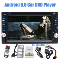 EinCar 2 Din Car Stereo Android 6.0 Car DVD Player Touch Screen Multi Color GPS Navigation Bluetooth Autoradio Mirror Link FM