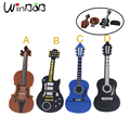 Nueva Guitarra pen drive de dibujos animados unidad flash usb caliente usb lindo pendrive 4G 8G 16G USB 2.0 de disco 4 de tarjetas flash de color Libre gratis
