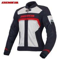 BENKIA JW35 Women's Motorcycle Jacket Motorcycle Racing Jackets Moto Clothing Racing Street Cruiser Biker Motorbike Jacket Armor