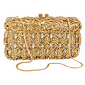 Green Crystal Clutch Bag Luxury Diamante Bling Handbags Women Wedding Bridal Party Evening Bag Formal Shoulder Bag SC448
