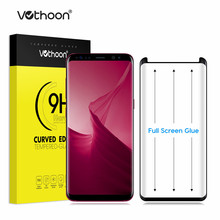 Vothoon 3D Tempered Glass For Samsung Galaxy S8 S8 Plus Full Glue Screen Protector Glass with Case Friendly(Full Glue)