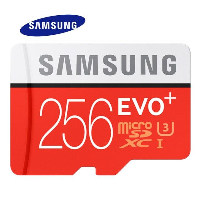 Samsung 메모리 카드 micro sd 256 기가바이트 16 기가바이트 32 기가바이트 64 기가바이트 128 기가바이트 sdhc sdxc 등급 evo + evo 클래스 10 c10 uhs tf 트랜스 플래시 마이크로