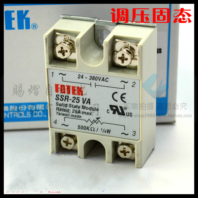 100% Original Authentic Taiwan's Yangming FOTEK solid state relay / thyristor modules SSR-25VA normally open single phase solid state relay ssr mgr 1 d48120 120a control dc ac 24 480v
