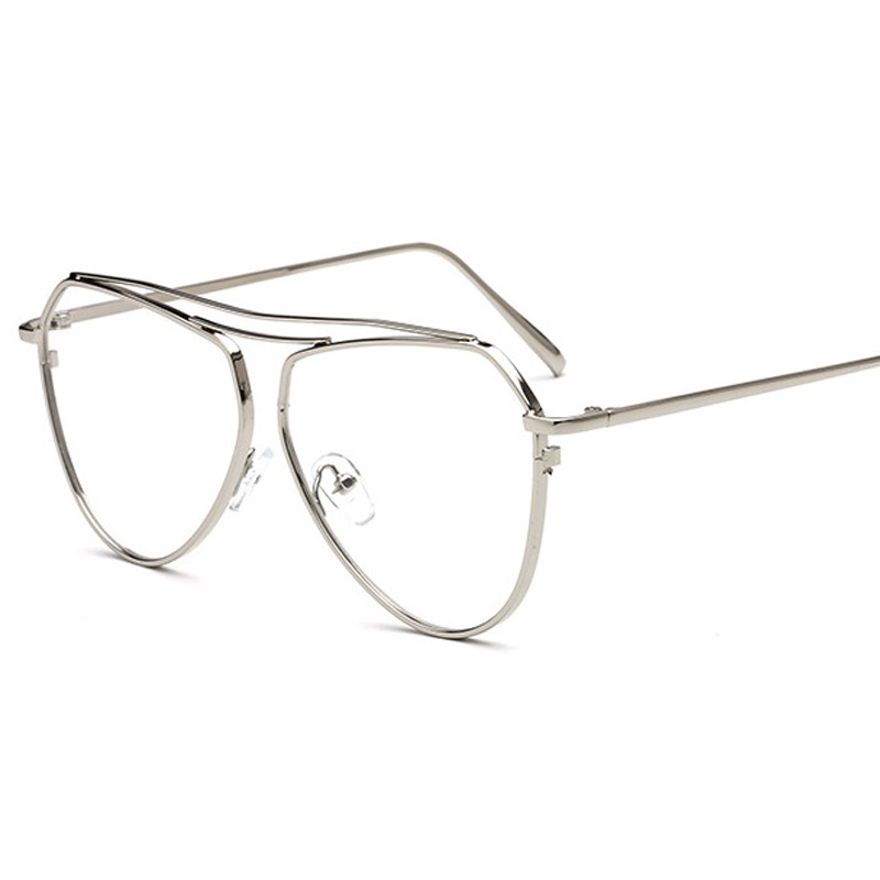 6466728e1d9 Aliexpress.com   Buy 2017 New Aviator Clear Glasses Women Optical  Eyeglasses Men Gold Optical Frame Transparent Lens Glasses Frames With Clear  Shades from ...