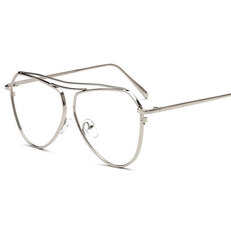 2017 New Aviator Clear Glasses Women Optical Eyeglasses Men Gold ...