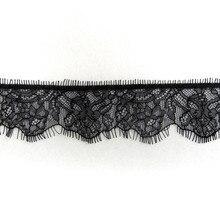 ZOTOONE 5.2*300cm Black Water Soluble Openwork Pajamas Underwear Eyelash Lace Trim Wedding Accessories French Fabric E