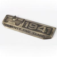 1Pcs Zinc Alloy 1941s 75 Anniversary Car Body Sticker Suitable For Jeep Wrangler Compass Grand Cherokee