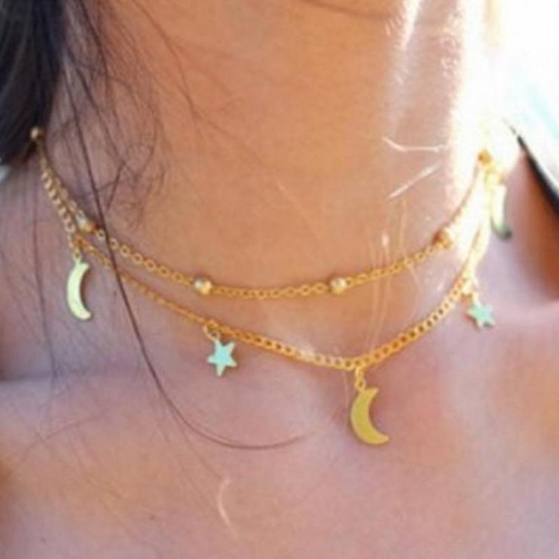 New Gold Silver Chain Beads Leaf Pendant Necklace Fs