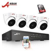 ANRAN Plug And Play 4CH NVR 48V POE CCTV System Onvif P2P 1080P HD H 264