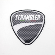 MTKRACING Free delivery for DUCATI scrambler logo logotype emblem polymeric 3D decals stickers set kit black_PCS