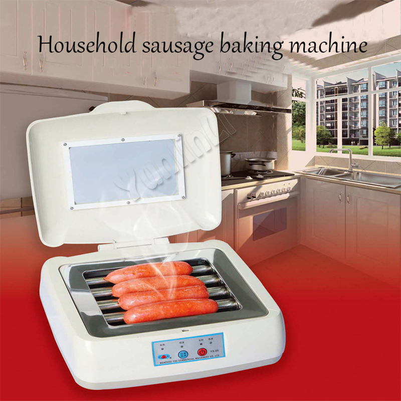 110V/220V Mini Sausage Roller Grill Machine Electric Hot Dog Roller Grilling Machine Sausage/Hot Dog Grill Machine YX05 free shipping sausage machine taiwan hot dog machine roast sausage machine dedicated accessories motor gear