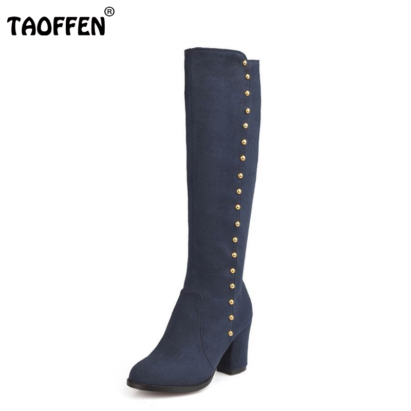 Free shipping over knee high heel boots women snow fashion winter warm shoes boot P15945 EUR size 32-48 free shipping over knee high heel boots women snow fashion winter warm footwear shoes boot p15646 eur size 30 49