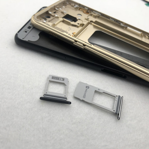 Image 4 - For Samsung Galaxy A8 2018 A530 A530F Full Housing Middle Frame metal Bezel Housing Chassis A8 Battery Glass Back Cover