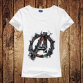 Avengers Camiseta Mujeres Marvel los Vengadores Capitán América Iron ManClothing Femenina Camiseta de Las Mujeres Por Encargo de Impresión Camiseta