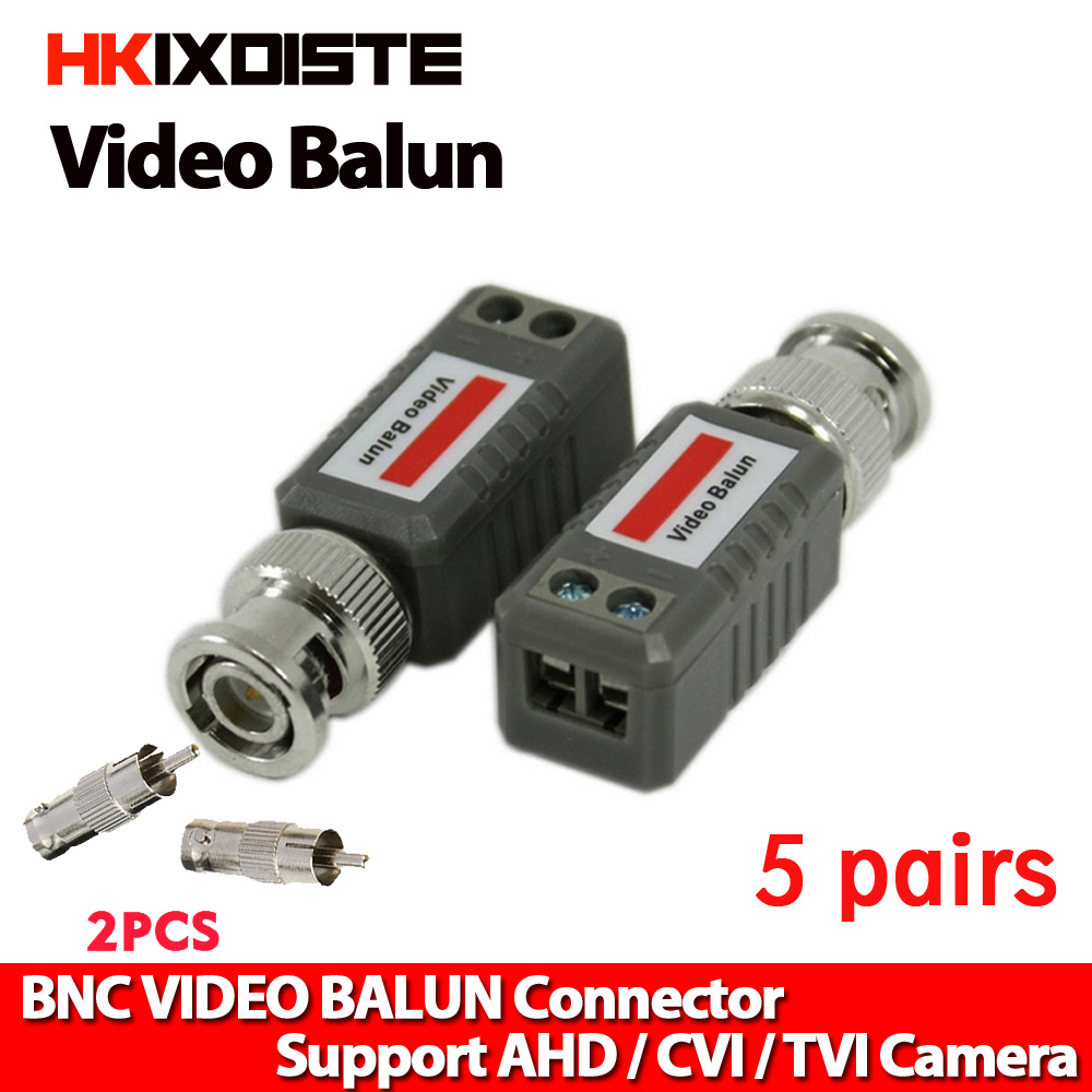 Hottest CCTV Accessories CCTV Passive BNC Video Balun to UTP Transceiver Connector for IP Camera new a pair single channel passive bnc cctv video balun transceiver adapter for camera cable
