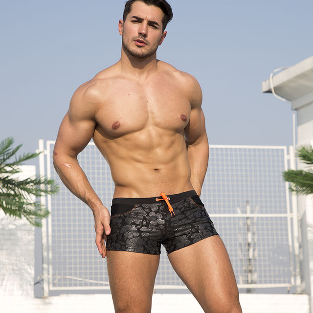 Black Bold Sexy Trunks  2