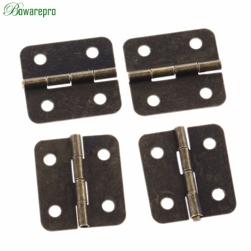 bowarepro 20PCS 36*26mm Antique Furniture Hinges for Jewelry Wooden Box Cabinet Drawer Butt Hinge Decorative Hinges for Hardware