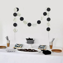 2m Music Themed Party Garland  Sheet Note Paper Circle Orchestra Banner Home Decorations