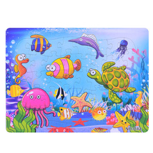 3D Paper jigsaw puzzles toys for children kids brinquedos Ocean World puzzle educational Baby Sea Horse Fish Puzles