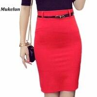 S 5XL Fashion Open Slit OL Skirt Women Office Skirts Summer Slim Sexy High Waist Bodycon
