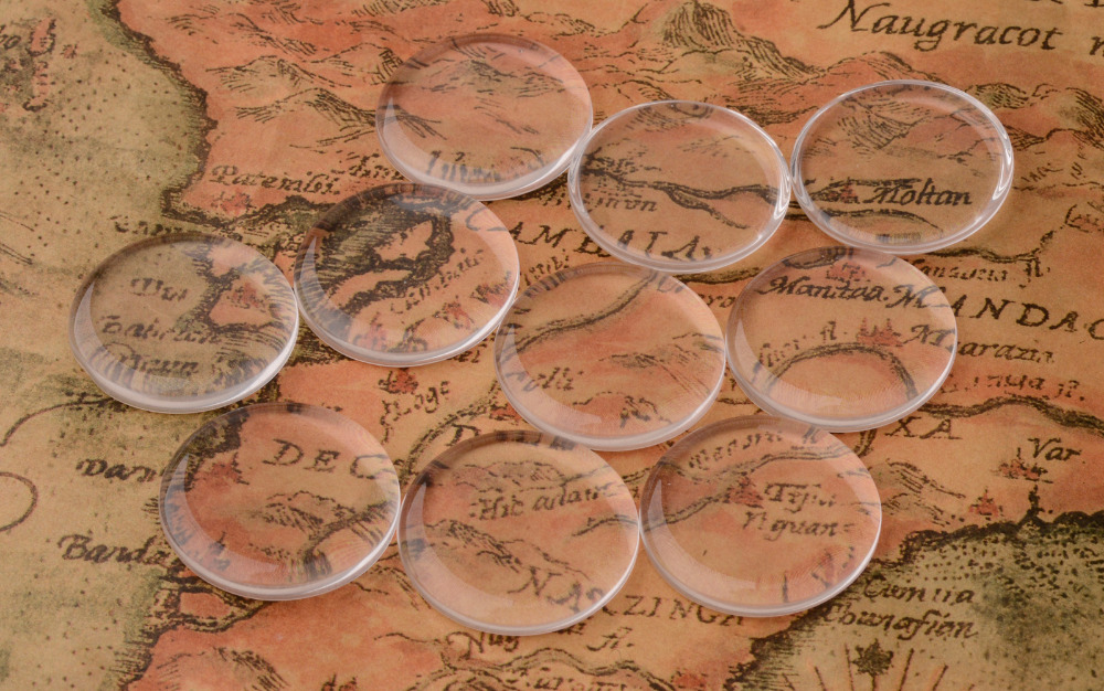 Jewerly Findings Clear Glass Cabochons, Transparent, Half Round Circle Flat Back, about 20pcs
