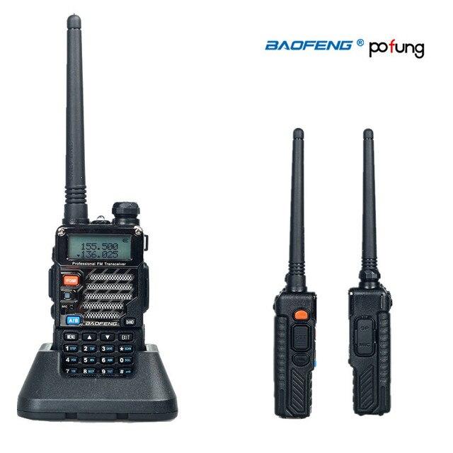 Pofung/Baofeng УФ-5RE Плюс Портативной Рации Двухдиапазонный Двухстороннее Радио УФ 5RE 5 Вт 128CH УВЧ УКВ ЧМ VOX Двойной Дисплей радио comunicador