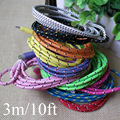 10Feet/3M Braided Fabic Lace Micro USB Wire Data Sync Charging Charger Cable Cords for Samsuang Galaxy S3 S4 Note2 4 HTC Sony
