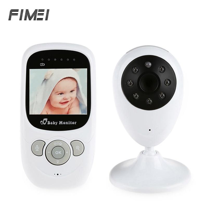 FIMEI SP880 2.4G Sem Fio Do Bebê Monitor de Vídeo Com Visão Noturna Two-Way Falar 2.4 Polegada LCD Display de Temperatura monitoramento