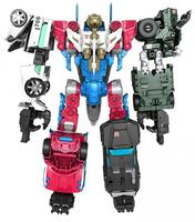 5Pcs/Set Sky Lynx Trailbreaker Hound Smokescreen Wheeljack Make Up To a Bigger One Action Figures without retail box