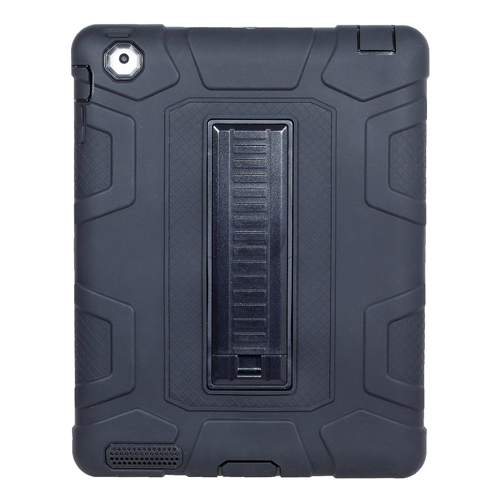 For iPad 2 3 4 Rugged Tablet Case Cover Kids Baby Safe Armor Shock-Absorption Heavy Duty Silicone+PC Hard Case With Kickstand