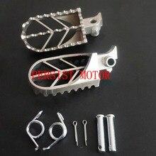Мотоциклетные подножки из нержавеющей стали, подножки для ног, подставка для мотоцикла Pit Dirt Motor Bike Pitster Pro XR50 CRF50 CRF70 SSR Thumpstar для мотокросса