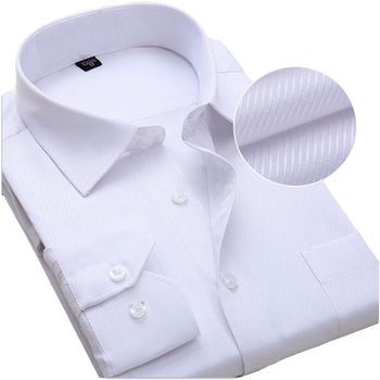 NCLAGEN New Solid Color Men Dress Shirt Long Sleeve Luxury Camisas Slim Fitted Male Autumn Wedding Clothes Plus Size 6XL 7XL 8XL