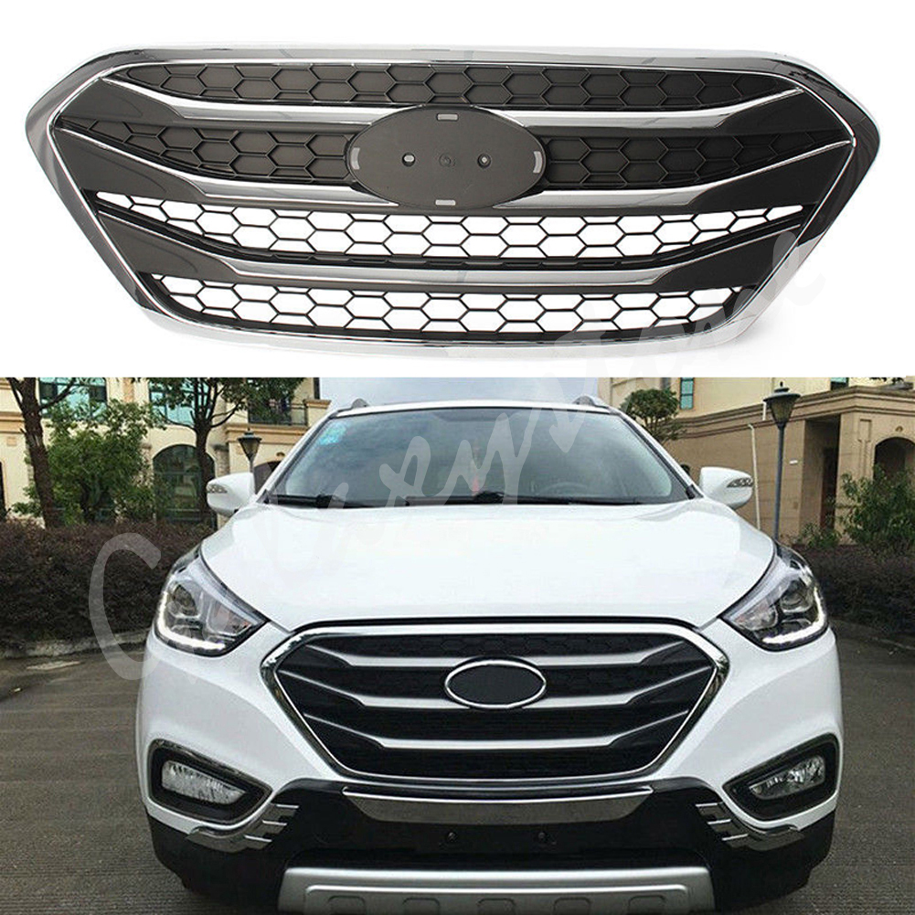 1x Car Front Grille Grill Fit Hyundai Tucson ix35 2010-2015 2011 2012 13 14 ABS дефлектор капота skyline hyundai ix35 2010