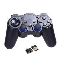 العالمي 2.4 جرام لاسلكية لعبة تحكم لعبة غمبد المقود الأسود مع usb استقبال لالروبوت tv box أقراص pc gpd xd