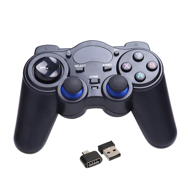 Universal 2.4G Wireless Game Gamepad Joystick Black Game Controller With USB Receiver for Android TV Box Tablets PC GPD XD