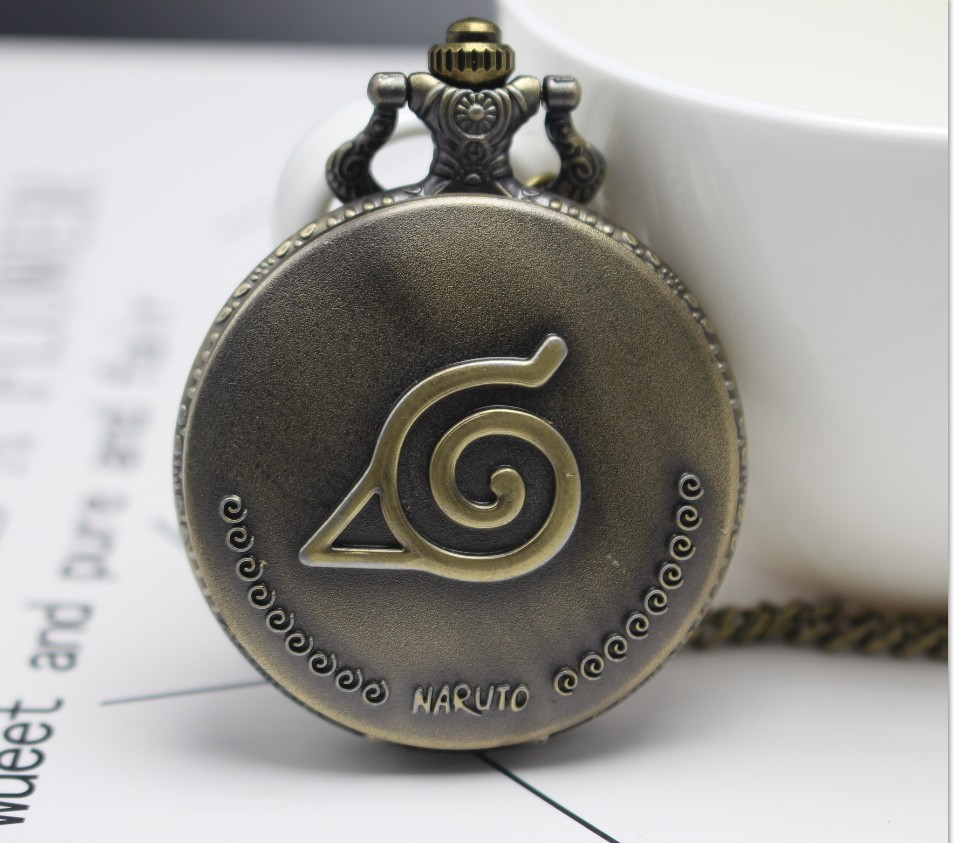 New Arrival NARUTO Japanese Anime Quartz Pocket Watch Analog Pendant Necklace Men Women Watches Fob Watches Gift