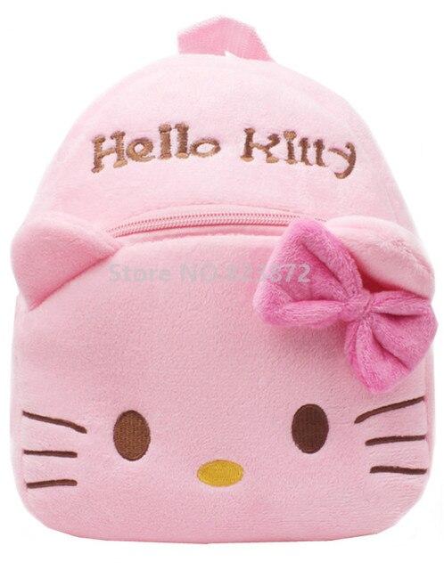 d0b40106b46d Mini Hello Kitty Backpack Pink Kawaii Cute Plush Bags Children School Bags  for Baby Girls Kindergarten
