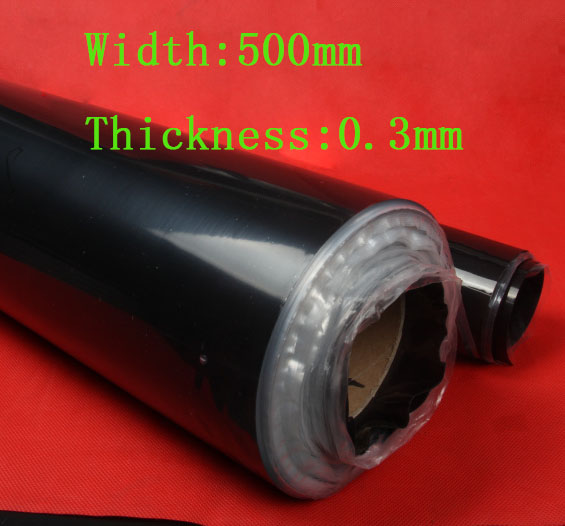 0 3mm thickness Black Color Silicone Rubber Sheet size about 500mm 500mm 5 pcs lot or