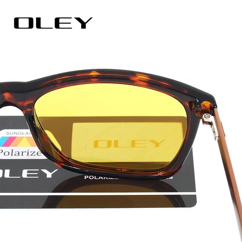b32c257ce0 Gafas de sol polarizadas de conducción nocturna para hombre OLEY, lentes  amarillas de marca para mujer, gafas de conducción de visión nocturna, ...