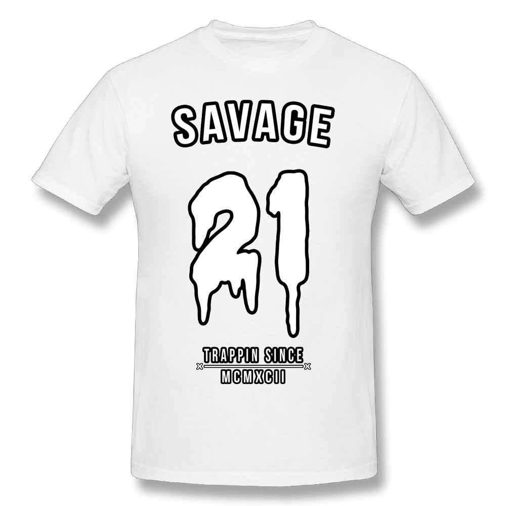 87464e7bff76 ... 21 Savage T-Shirt Men 3d Print Cute T Shirt Fashion Shirt Short Sleeve  Funny ...