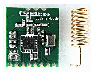 NEW CC1101 wireless module Long Distance Transmission Antenna 868MHZ