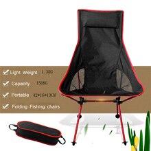 Taşınabilir katlanabilir ay sandalye balıkçılık kamp barbekü tabure katlanır genişletilmiş yürüyüş koltuk bahçe Ultralight açık sandalye masa