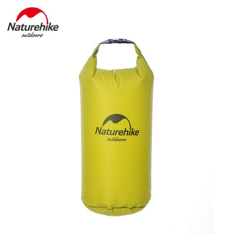 Naturehike ultraligero impermeable bolsa de silicona bolsa seca bolsas impermeables para kayak Rafting Camping senderismo 5L 10L 20L 30L