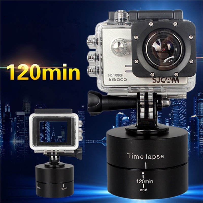 120min-1-4-360-Degrees-Panning-Rotating-Time-Lapse-Stabilizer-Tripod-Adapter-For-Gopro-SJ4000-XIaomi