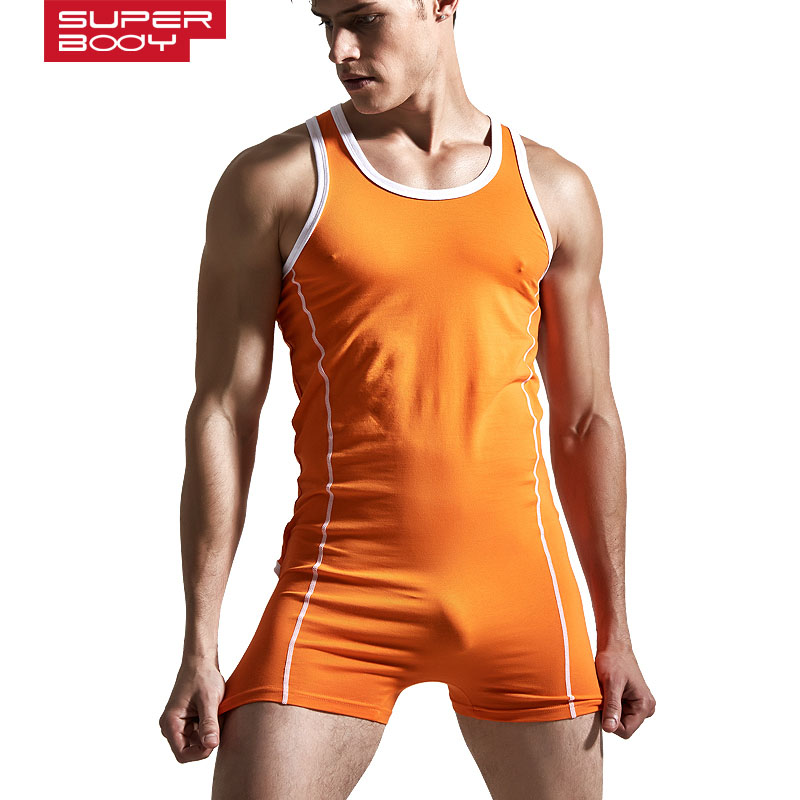 Superbody Sexy Undershirt Men bodysuit body stocking sexy Man jumpsuit wresting Undershirts shapper gay  exotic club jumpsuit