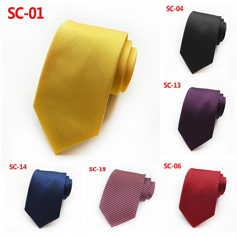 Casual Gold High Density Silk Satin Tie 8cm  Fashion Tie