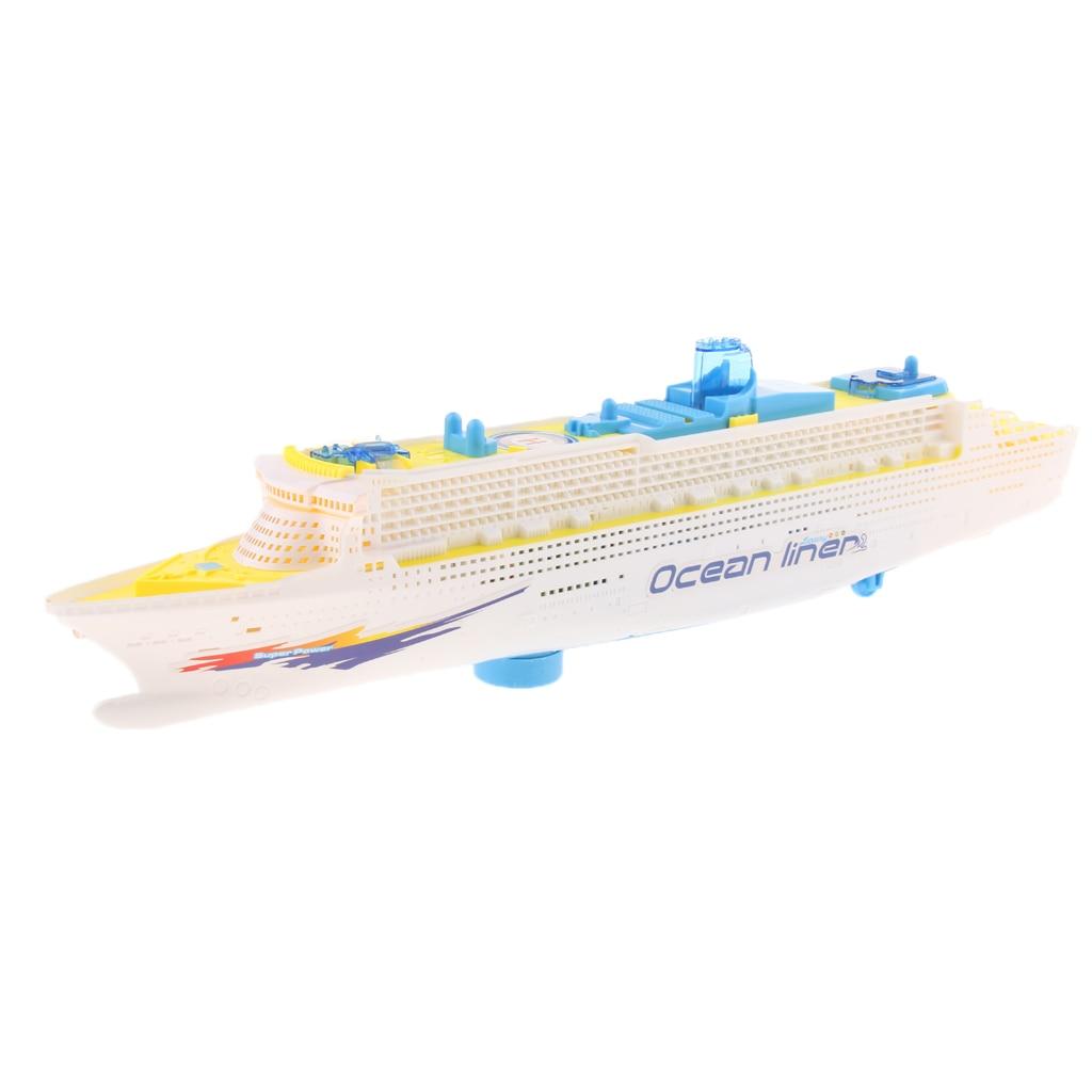 SchöN Ozean Liner Schiff Boot Elektrische Spielzeug Flash-led-leuchten Pfeifen Klingt Geht Um Und Änderungen Richtungen Auf Kontaktieren