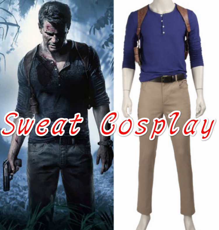 High Quality Uncharted 4 A Thief S End Nathan Drake Costume Men